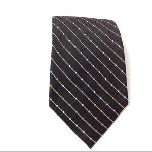 Black Striped Men's Tie Silk
